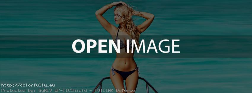 Bikini girl on a yacht – Facebook cover