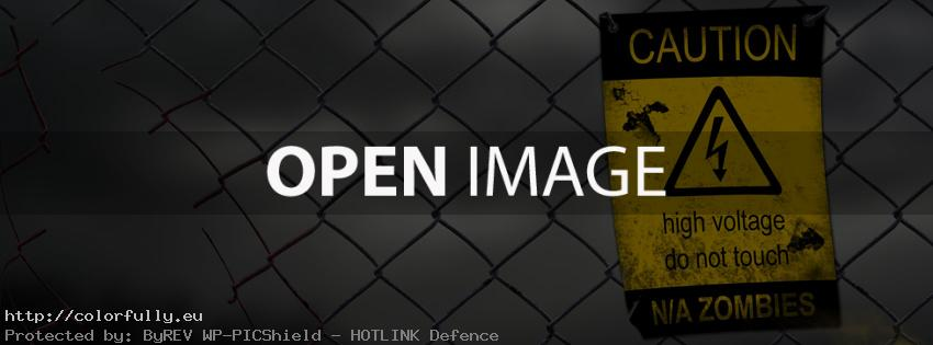 Caution – High Voltage – Zombies – Facebook covers