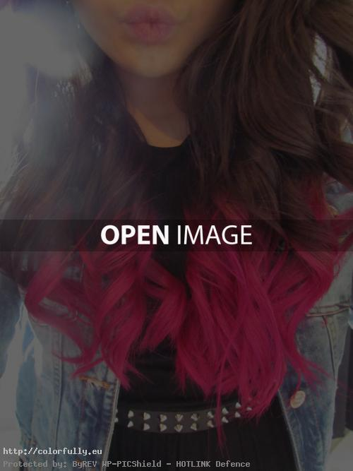 Brown Hair With Blue And Pink Highlights
