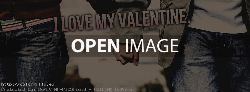 I love my valentine – Facebook cover