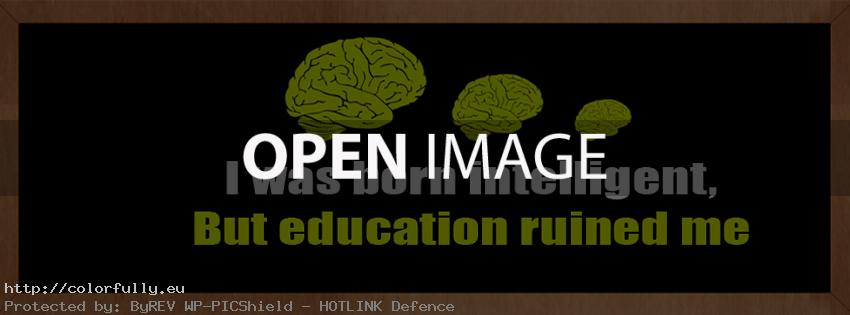 I was born intelligent, but education ruined me – Facebook cover