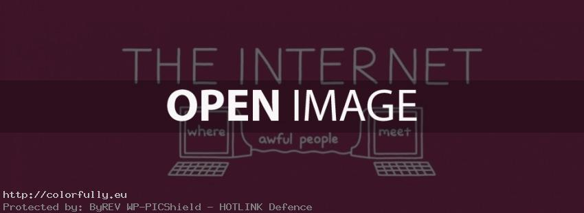 The Internet: Where awful people meet each other – Facebook cover