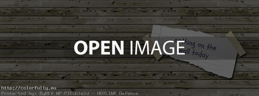 Nothing on the wall today – Facebook cover