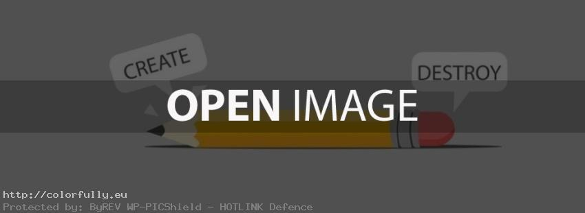 Pencil – create and destroy – Facebook cover