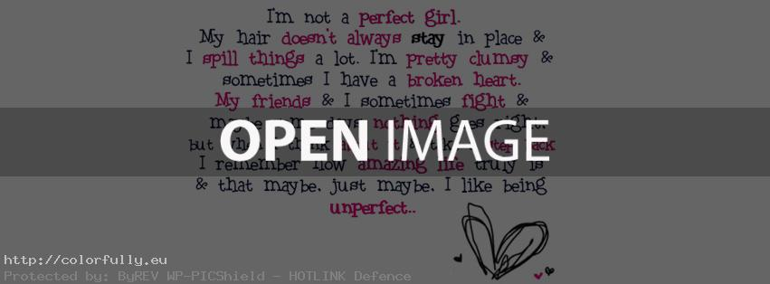 The perfect girl – Facebook cover