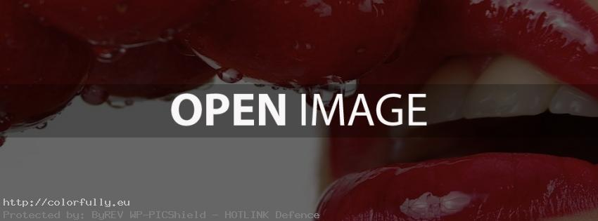 Lips… eat cherries – Facebook cover