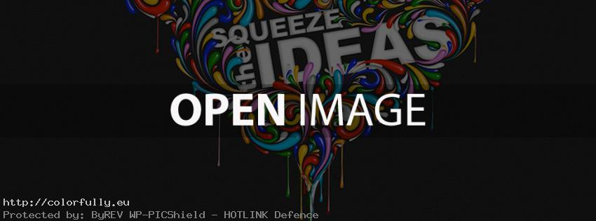 Squeeze the ideas – Facebook cover