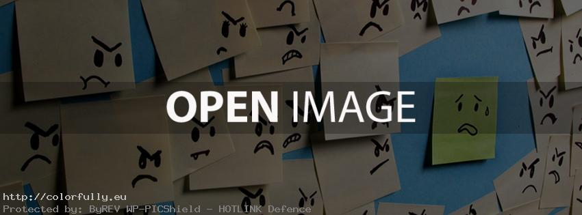 Sticky notes – Funny Facebook cover