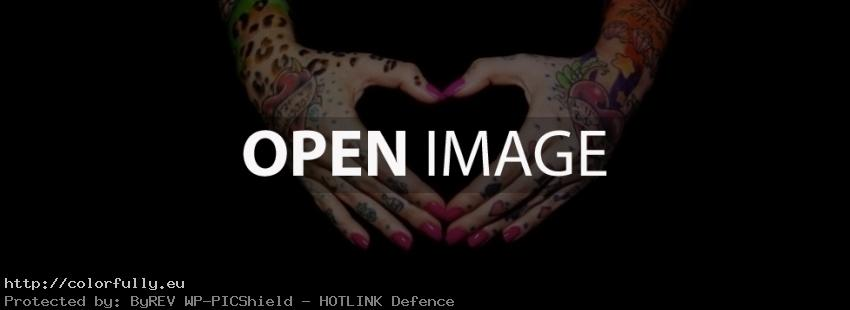 Tattoo girl hands heart - Facebook cover
