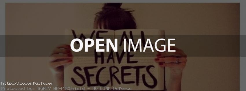 We all have secrets – Facebook cover