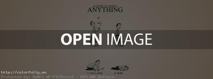 A guide to doing anything - try, fail, collapse, sob - Facebook cover