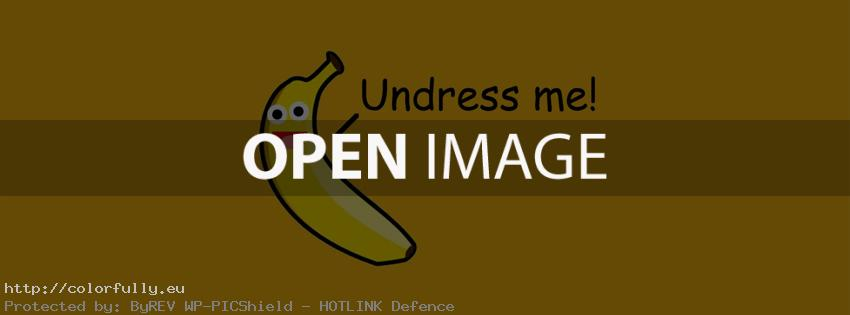 Banana – Undress me – Facebook cover