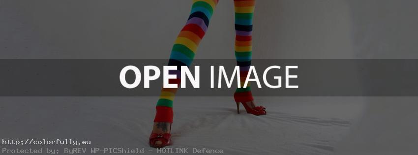 Colorful pantyhose - Facebook cover