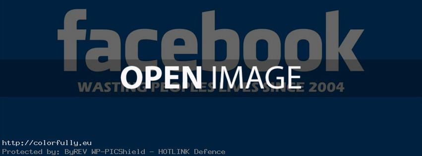 Facebook wasting peoples lives since 2004 – Facebook cover