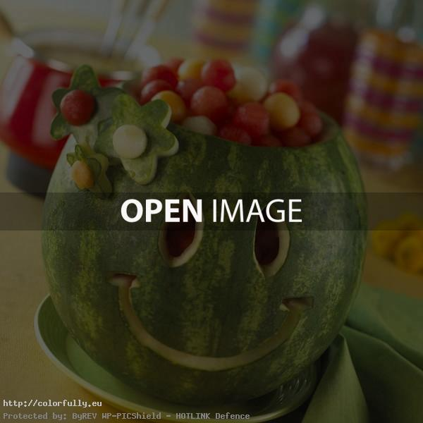 Fresh smiled watermelon