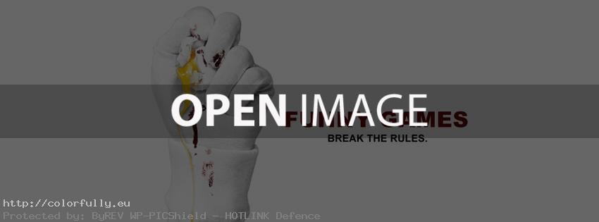 Funny games break the rules – Facebook cover