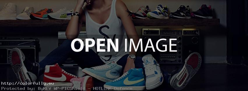 GIrl in a room with a lot of shoes – Facebook cover