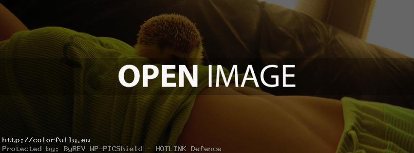 Girl and a hedgehog – Facebook cover