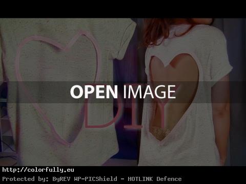 NO SEW CUT OUT SHIRT | HEART DIY