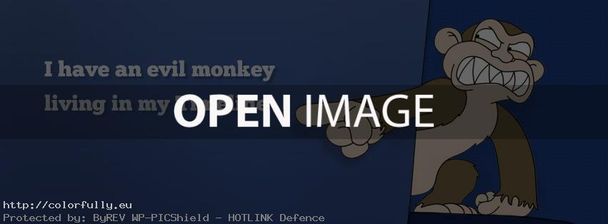 I have an evil monkey living in my timline – Facebook cover