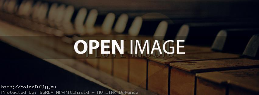 I love music – Facebook cover