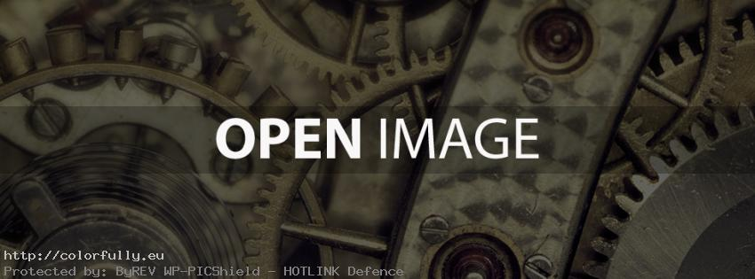 Clock gears – Industrial Facebook cover