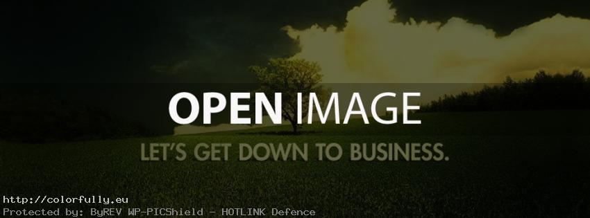 Lets get down to business – Facebook cover
