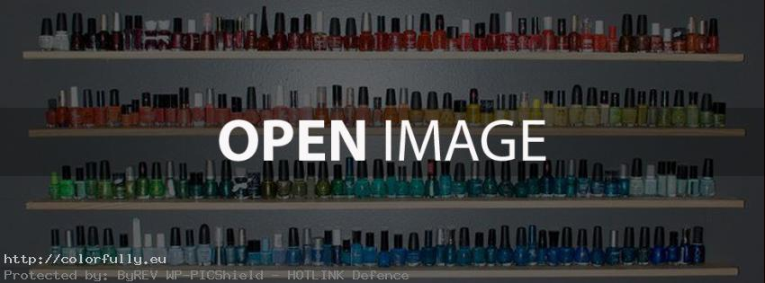 A lot of colorful manicure lacquer – Facebook cover
