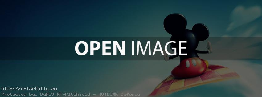 colorfully free facebook covers mickey mouse with flying