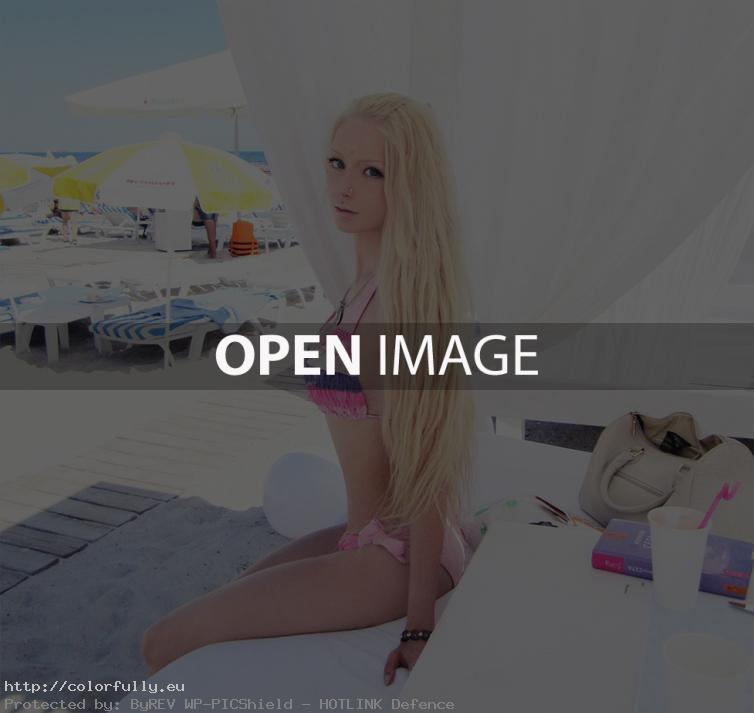 Valeriya Lukyanova real life barbie doll on the beach