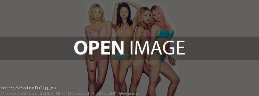 Selena Gomez and friends with swimwear – Facebook cover