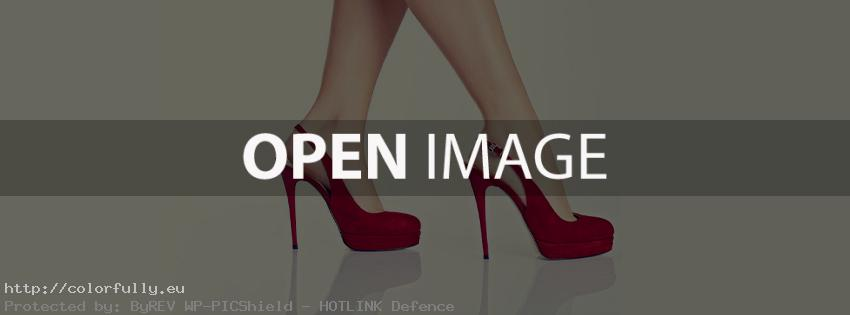 Girl – long legs with red high heels – Facebook cover