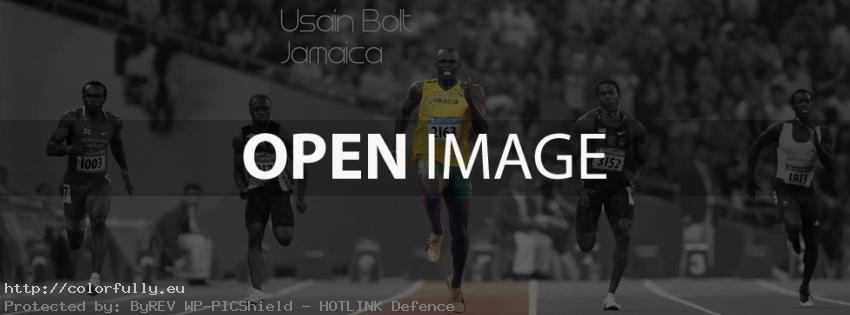The fastest man - Usain Bolt Jamaica - Facebook cover
