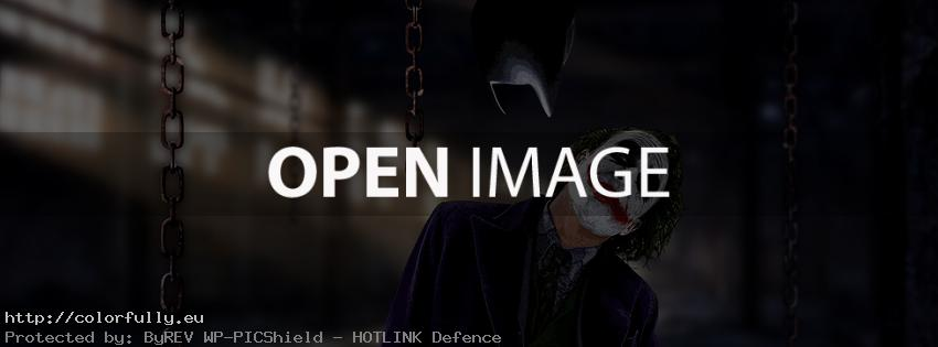 The Joker from Batman – Facebook cover