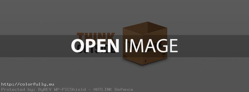 Think outside the box – Facebook cover