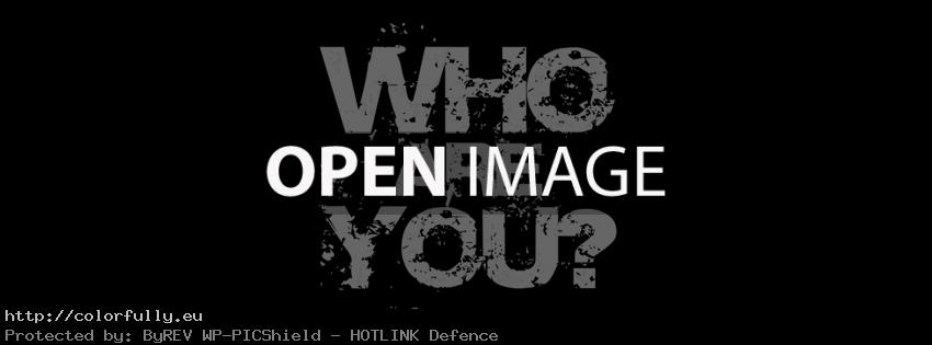 Who are you – Facebook cover