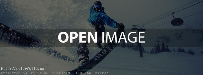 Winter snowboard jump – Facebook cover