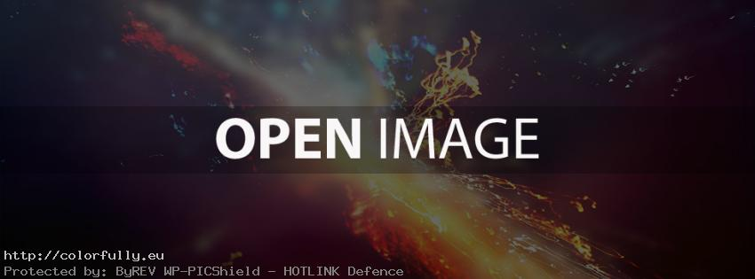 Abstract colorful universe – Facebook cover