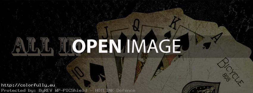 Poker – All in – Facebook cover