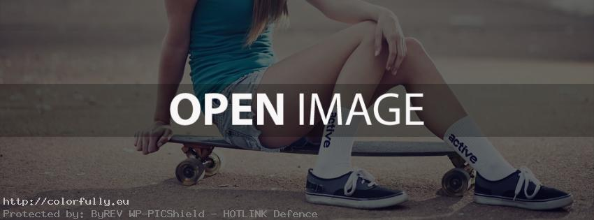 Beautiful skater girl – Facebook cover