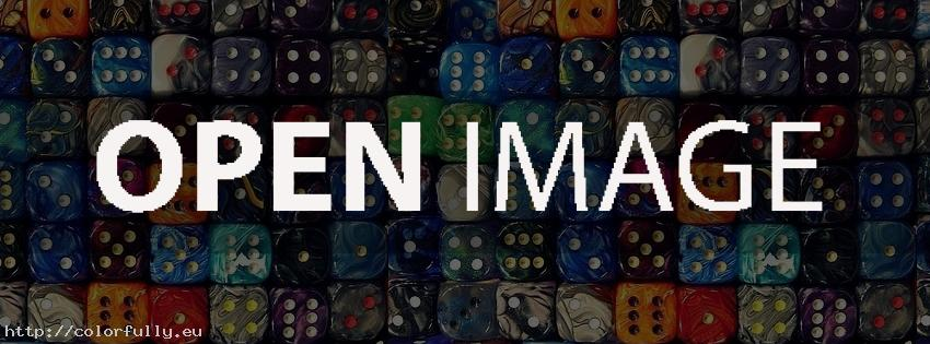 A lot of colorful dices – Facebook cover