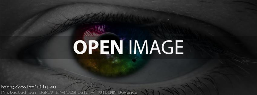 Very Colorful eye – Facebook cover