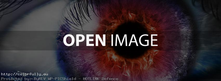 Colorful eye in fire – Facebook cover
