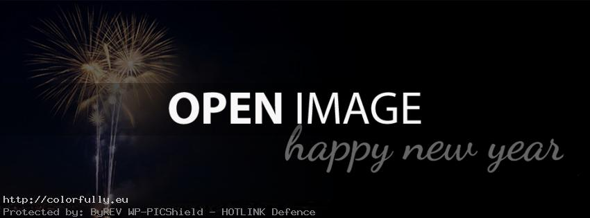 Happy New Year - Facebook cover