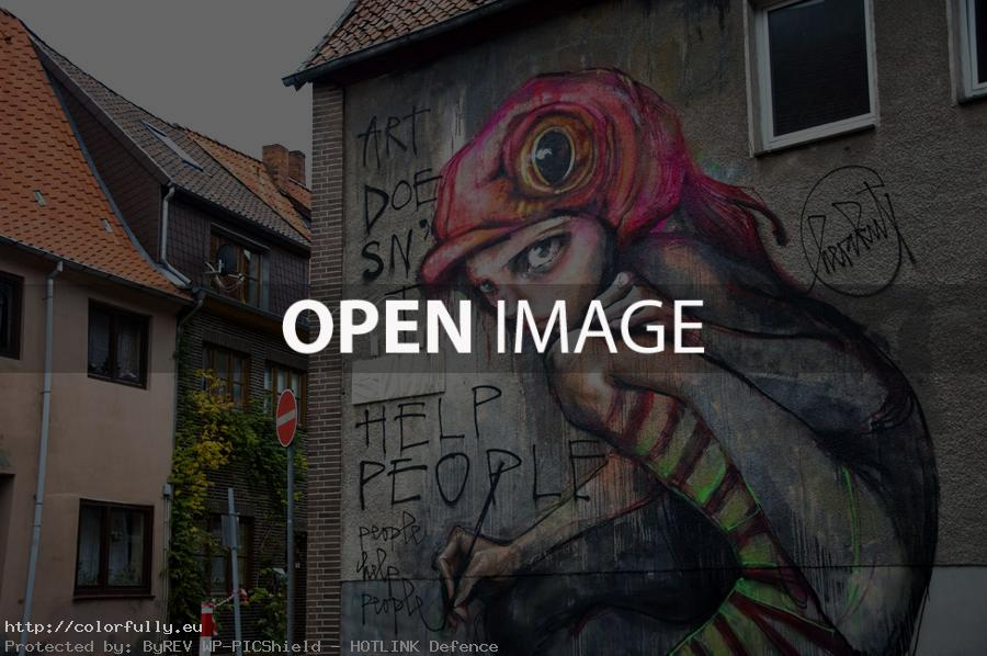 Help people – Street graffiti art
