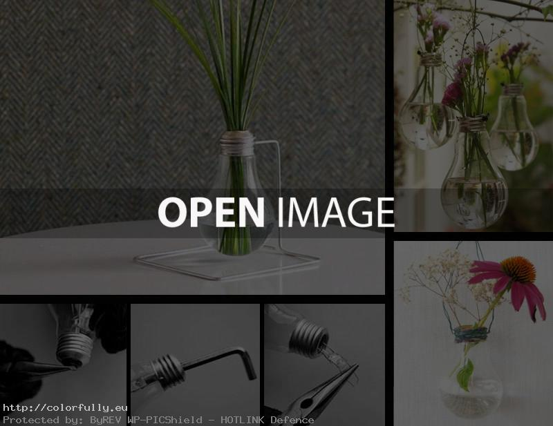 How to make Bulb Vase for flowers – DIY – Do it by yourself – Self made