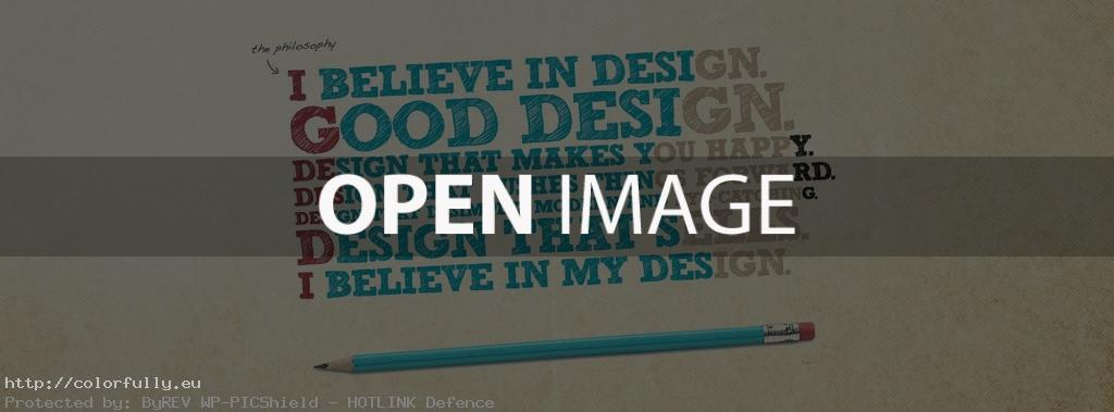 I belive in good design – Facebook cover