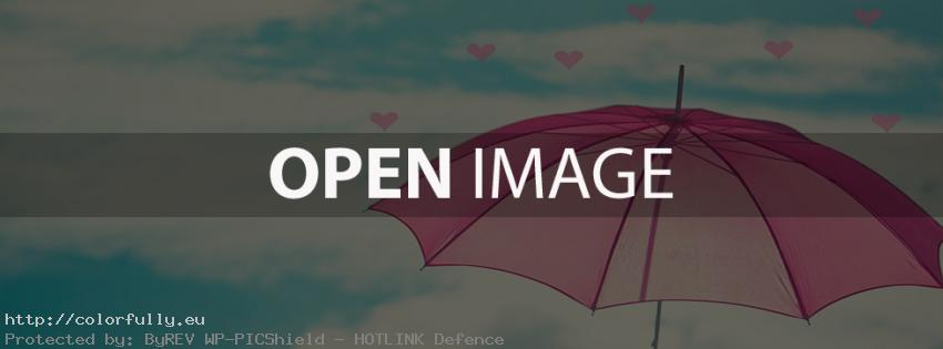 Love Hearts Umbrella – Facebook cover