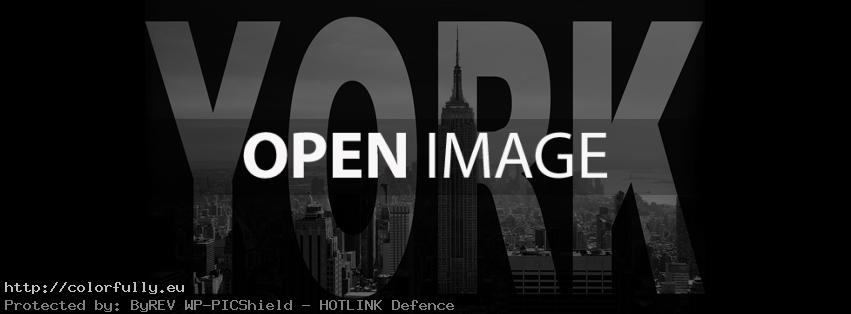 New York City text – Facebook cover