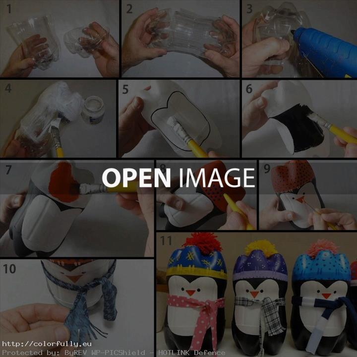 DIY – Penguins from plastic bottles